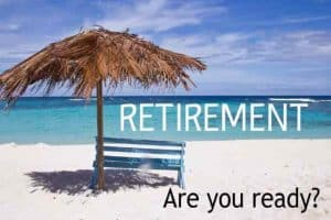 Are you ready to retire, retirement ready, are you ready, empty bench looking at water in retirement
